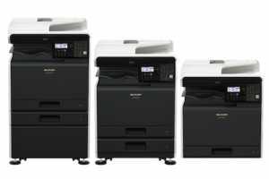 Компактне МФУ Sharp BP-20C25EU формату A3 дозволяє друкувати  до 25 кольорових сторінок в хвилину