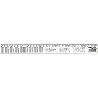 Лінійка 30 см.прозора, таблиці: множення, обсягу, площі, маси, друкована