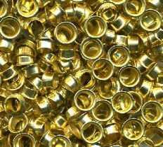Люверс 5 мм, золото, 1000 штук/уп. (шт.)