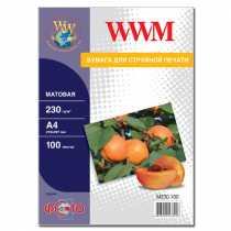 Фотопапір WWM A4 , 230 г/м кв , матовий , 100 арк. , (M230.100)