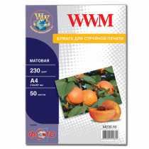 Фотопапір WWM A4 , 230 г/м кв , матовий , 50  арк. , (M230.50)