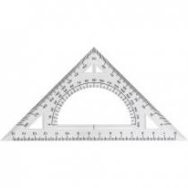Трикутник пласмасоий з транспортиром 20см.