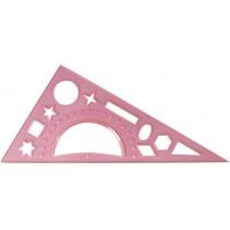 Трикутник20 см,прозорий (транспортир і геометр фігури)