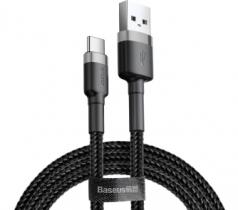 Кабель USB Type-C Baseus Cafule 1м Black-Grey , 491798