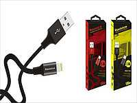 Кабель USB I-Phone 5/6 Reddax RDX-345 (тканина, метал) - Grey