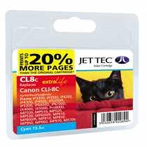 Картридж CANON CLI-8C Cyan (110C000802) JetTec
