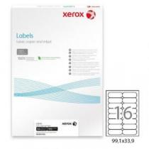 Папір матовий самоклейка (16) (99,1х34) , 100 арк. , Xerox , білий , для струменового та лазерного
