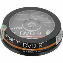 Disk DVD+R 4.7Gb TDK 16x, CakeBox 10 (за ШТ)
