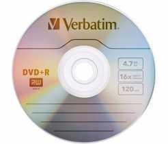 Disk DVD+R 4.7Gb Verbatim 16x, CakeBox 50 (за ШТ)