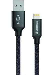 Кабель USB Lightning Colorway  2.1А 1м чорний. 490266