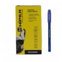 Ручка кулькова масляна Hiper  Accord,синий