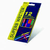 Олівці кольорові двосторонні 12 кольорів MARCO