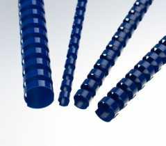 Пластикові пружини 8мм , синій колір , Bindmark , (100шт)