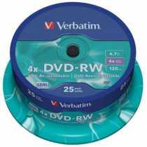 Disk DVD+RW 4,7Gb Verbatim 4x Silver Cake box 10