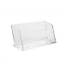 Підставка для візиток DELI 90х55 пласт. прозора