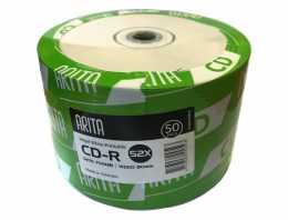 Диск CDR 700Mb Arita 52x Printable, Bulk50 (за ШТ)