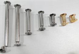 Болт палітурний, золото, 10 мм (уп.)