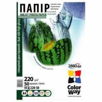 Фотопапір ColorWay A4, 220 г/м кв, глянцевий/ глянцевий, 50  арк., (PGD220050A4)