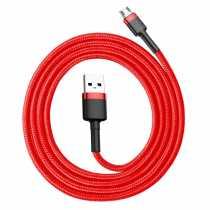 Кабель USB MicroUSB Baseus Cafule, B91, 2.4A, 1м, чорно-червоний