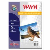 Фотопапір WWM A3 , 100 г/м кв , матовий , 50  арк. , (M100.A3.50)