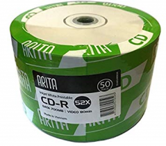 Диск CDR 700Mb Arita 52x , Bulk50 (за ШТ)