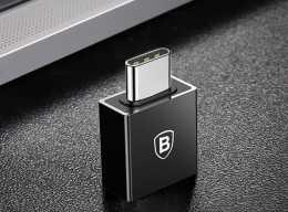 Перехідник USB to TYPE C Baseus Exquisite Black