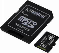 Карта пам'яті MicroSDXC 128 Gb Kingston class 10 A1 Canvas Select Plus