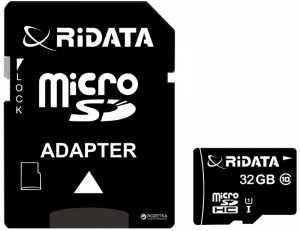 Trans Flash (MicroSD) 32 Gb Ridata (class10) + адаптер SD