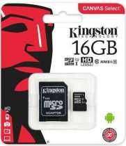 Trans Flash (MicroSD) 16Gb Kingston (Class 10) + SD адаптер
