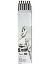 Олiвці Raffine  6шт графітові