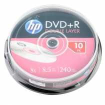 Disk DVD+R 8.5Gb HP 8x, CakeBox 10, Dual Layer